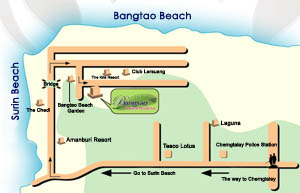 Map to Bangtao Tropical Residence